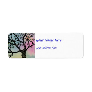 Mother's Love - Trees on Vellum and Watercolor Custom Return Address Labels