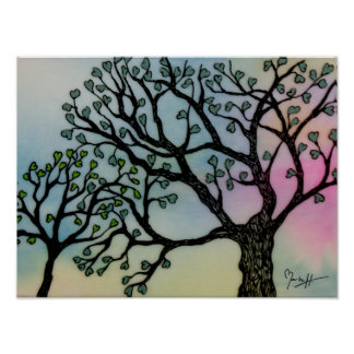 Mother's Love - Trees on Vellum and Watercolor Poster