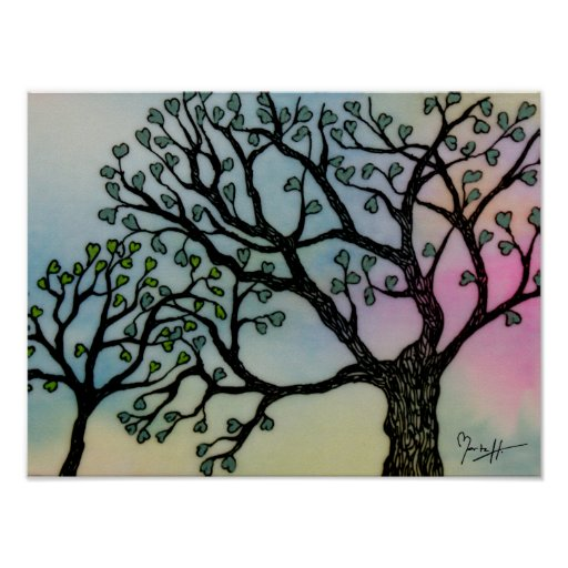 Mother's Love - Trees on Vellum and Watercolor Posters