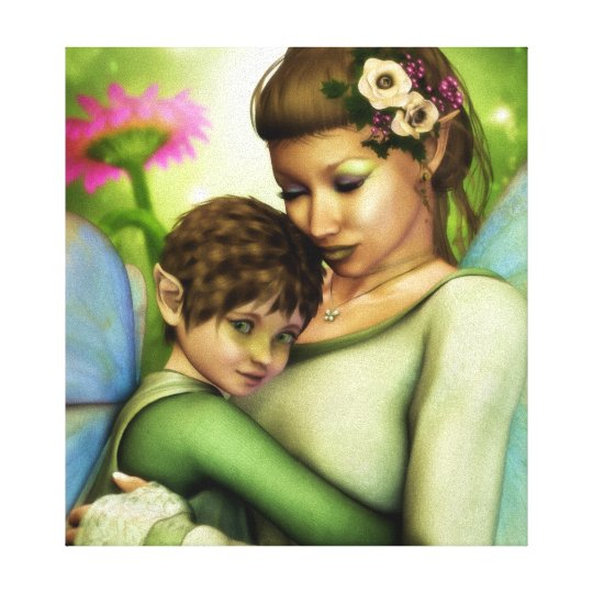 Mother's Love Wrapped Canvas Print