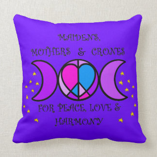 Mothers, Maidens & Crones Throw Pillow