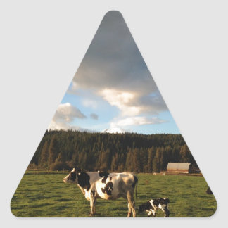 Mothers Milk in the Mountain Meadows Triangle Sticker