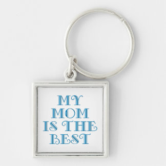 Mothers & Moms (4-6) Silver-Colored Square Keychain