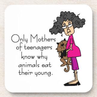 Mothers of Teenagers Beverage Coasters