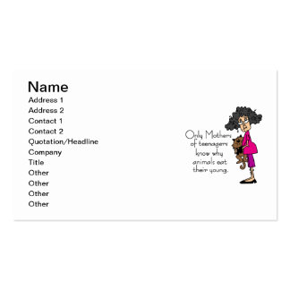 Mothers of Teenagers Business Card Templates