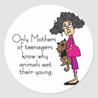 Mothers of Teenagers Classic Round Sticker