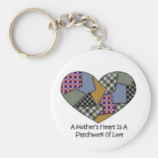 Mother's Patchwork Keychain