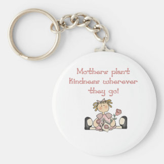Mothers Plant Kindness Basic Round Button Keychain