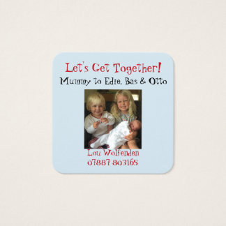 Mother's Play Date Get Together Photo of Children Square Business Card