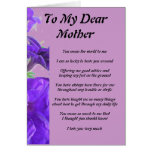 Mother's Poem Greeting Card