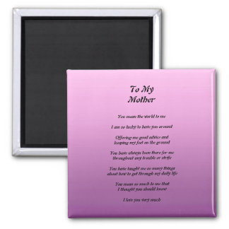 Mother's Poem Magnet