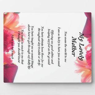 Mother's Poem Plaque