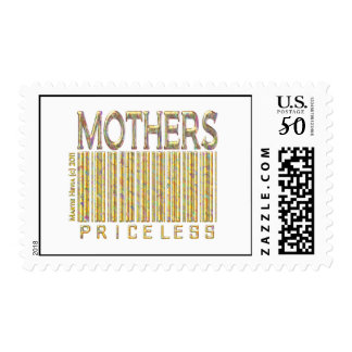 Mothers: Priceless - Barcode - Postage Stamp (Whit
