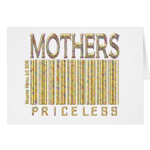 Mother's Priceless Stationery Note Card