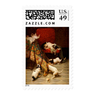 Mother's Pride and Joy (Puppy Power!) ~.jpg Postage Stamp
