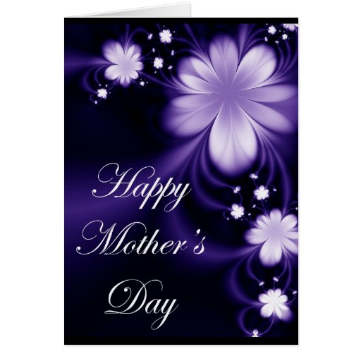 Mother's Purple Flower Card