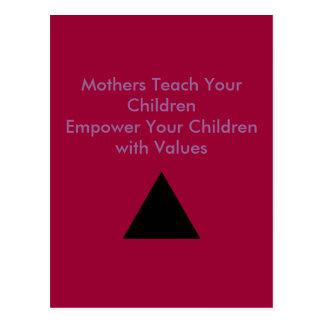 Mothers Teach Your Children Empower Your Children Postcards