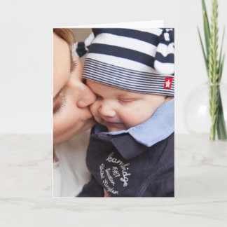 Mother's Tender Kiss to Son Card