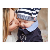 Mother's Tender Kiss to Son Postcard
