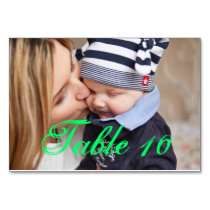 Mother's Tender Kiss to Son Table Number