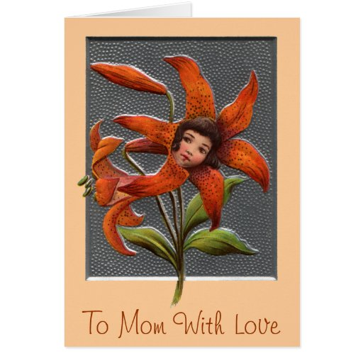 Mother's Tiger Lily Girl Greeting Card