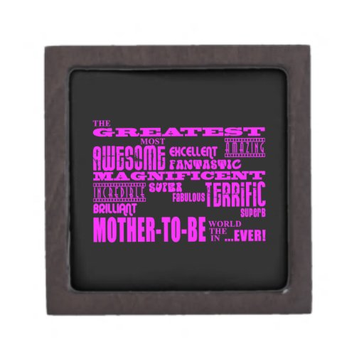 Mothers to Be Fun Gifts : Greatest Mother to Be Premium Trinket Boxes