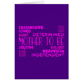 Mothers to Be Future Moms Baby Showers : Qualities Card