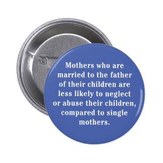 Mothers Who Are Married To The Father … Pinback Button