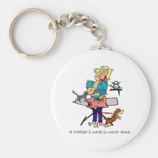 Mother's Work Keychain