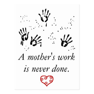 Mother's Work Postcard
