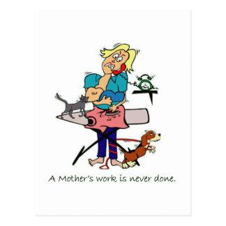 Mother's Work Postcard