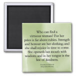 Mothers' Worth Cannot be Measured  (Proverbs 31) 2 Inch Square Magnet