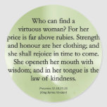 Mothers' Worth Cannot be Measured  (Proverbs 31) Classic Round Sticker