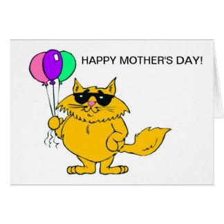 MOTHERSDAY FELIZ DEL CAT FRESCO TARJETON