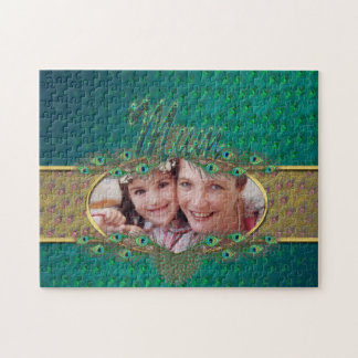 Mothersday peacock feathers photo puzzles