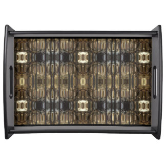 MothersHeart Large Serving Tray, Black Serving Tray