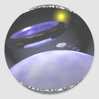 Mothership Earth Classic Round Sticker