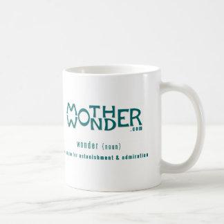 MotherWonder.com: Logo and tagline Classic White Coffee Mug