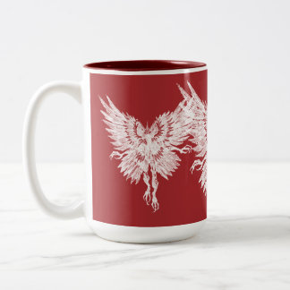 Mothman Blood Red Eyes Two-Tone Coffee Mug