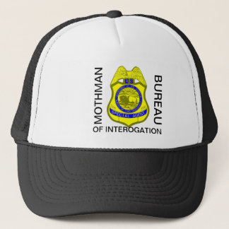 MOTHMAN , BUREAU , OF INTEROGATION TRUCKER HAT