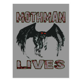 MOTHMAN LIVES POSTCARD