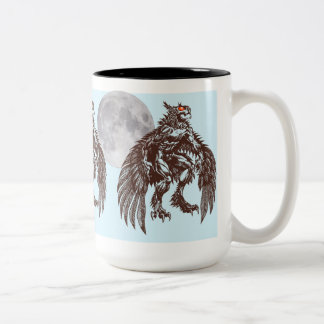 Mothman Night Owl Big Moon Mug