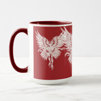 Mothman Ringer Blood Red Eyes Mug