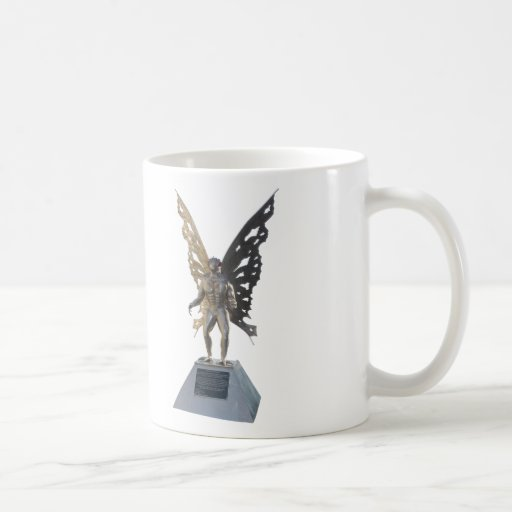 Mothman Statue from Point Pleasant West Virginia Mugs