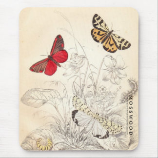 Moths and Butterflies Mouse Pad