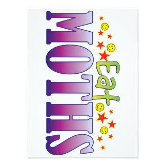 Moths Eat 5.5x7.5 Paper Invitation Card