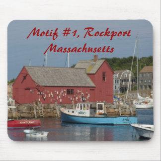Motif #1 Blue Boat mousepad