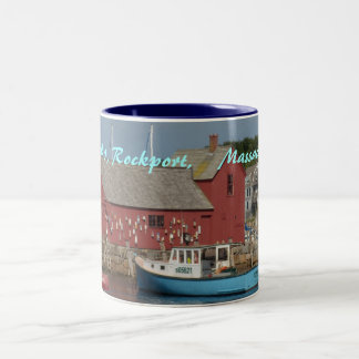 Motif #1 Blue Boat mug