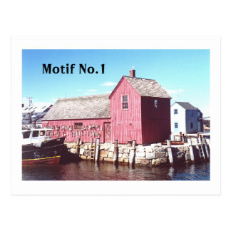 """Motif#1, Rockport, Cape Ann, Massachusetts"" Postcard"