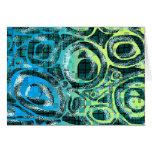 Motif Blue Green Abstract Blank Card